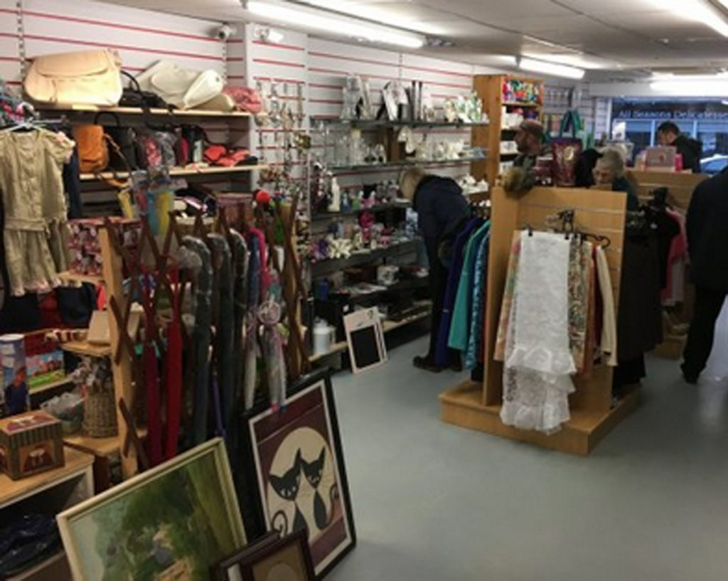 Interior of a Charity Shop