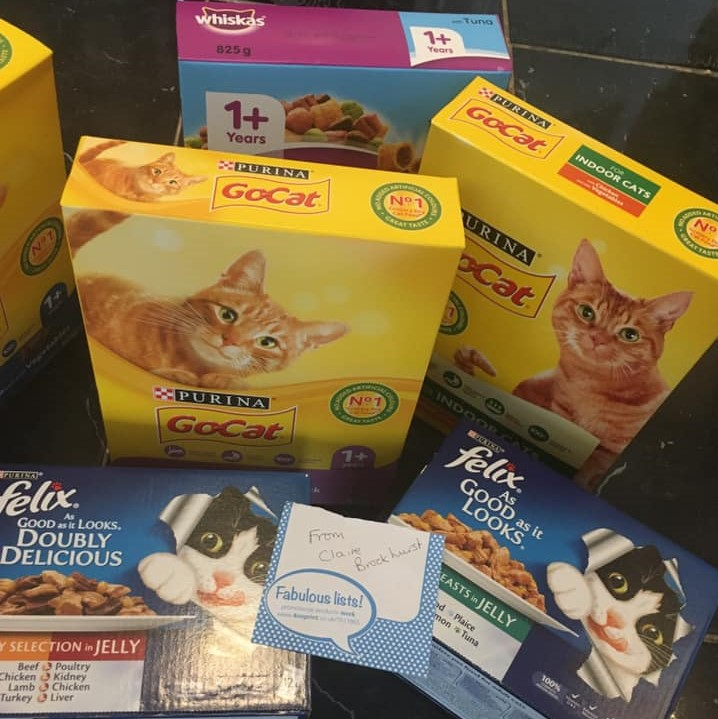 Donation of cat food