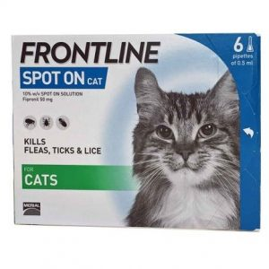 Frontline for cats box